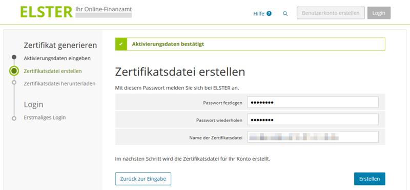 elster online zertifikatsdatei